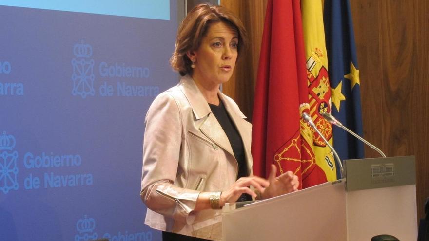 """Barcina dice que la sentencia del TC """"no afecta a la Fundación Caja Navarra"""" y que ella acata la resolución"""