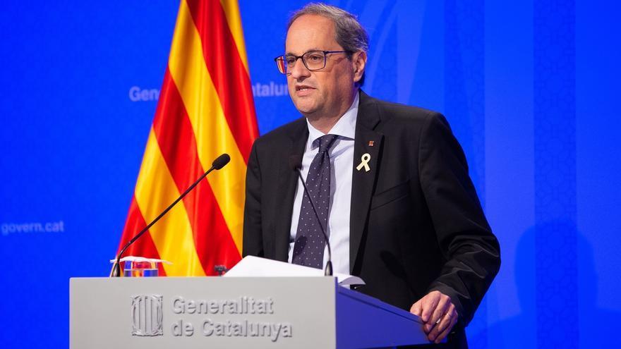 Torra comparece mañana en el Parlamento catalán en el primer pleno tras finalizar el juicio
