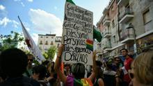 Pancarta en la manifestación del Orgullo Crítico en Madrid este 2017.