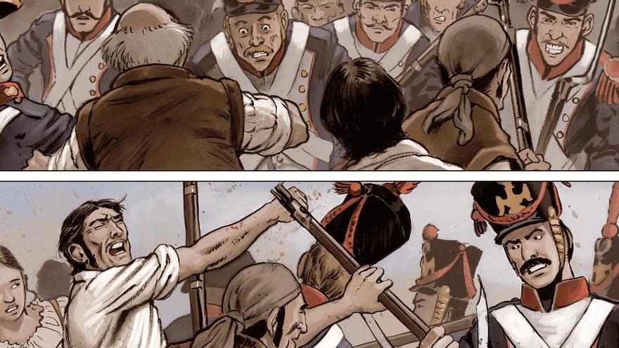 Detalle de una de las viñetas de '1808 Madrid'