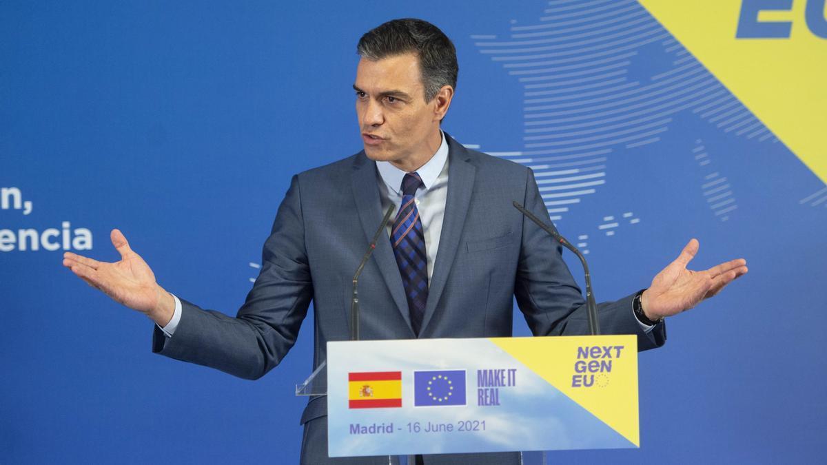 Sánchez, en la comparecencia que compartió con la presidenta de la Comisión Europea Ursula von der Leyen