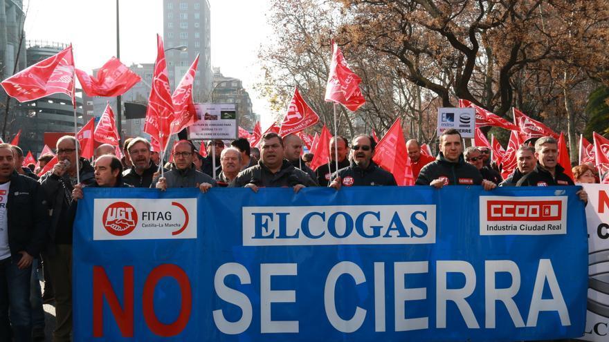 Manifestación en Madrid contra el cierre de Elcogas / Podemos