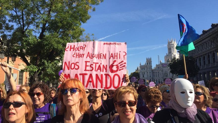 Pancarta de la manifestación del 7N. / Marta Borraz