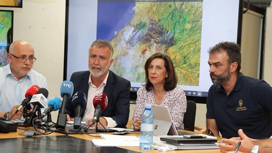 Antonio Morales, Ángel Víctor Torres, Margarita Robles y Federico Grillo. (EFE)