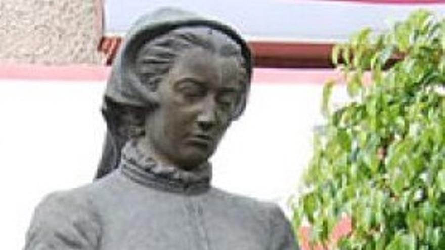 Estatua de Catalina Bustamante en Texcoco (México)