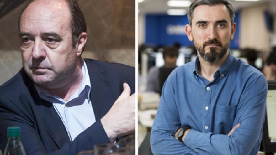 Jesús Maraña, director editorial de infoLibre, e Ignacio Escolar, director de eldiario.es