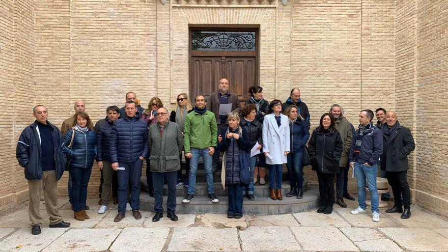Trabajadores de la UCLM en el campus de Toledo