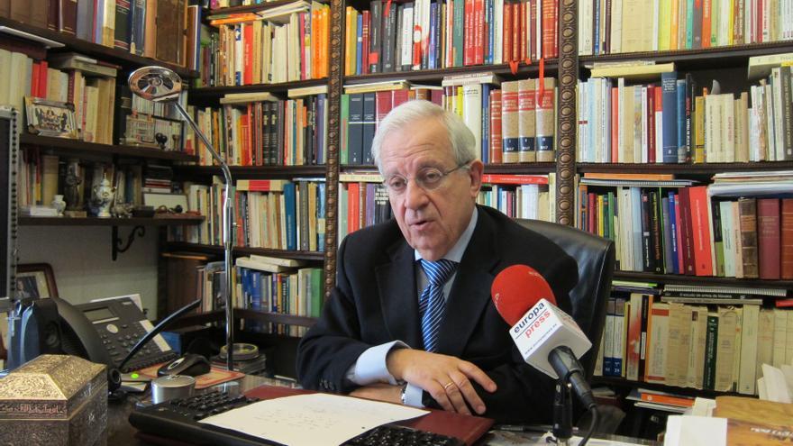 Del Burgo acude al Palacio de Justicia de Pamplona para declarar por videoconferencia ante el juez Ruz