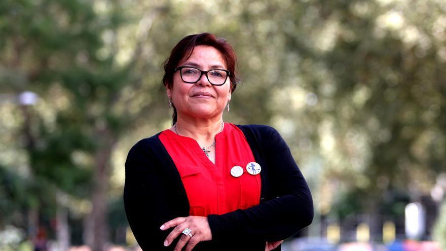 Juana Flores, en su visita a Madrid. FOTO: MARTA JARA