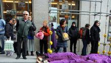 Protesta contra la violencia machista. Del Centro de Medios del Eje Feminista Rompamos el silencio.