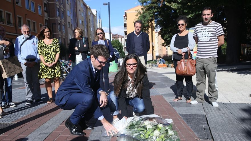 Vitoria rinde homenaje al cántabro Félix Gallego, policía nacional asesinado por ETA