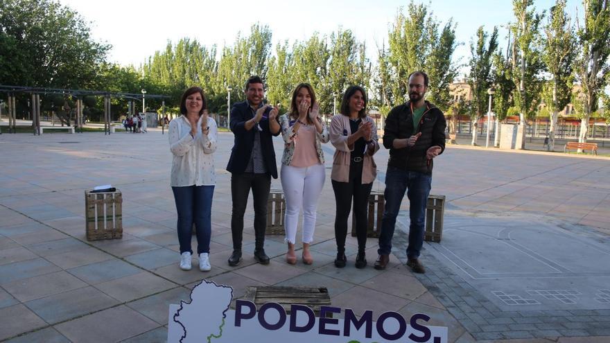 Acto de Podemos Aragón en Utebo el pasado martes