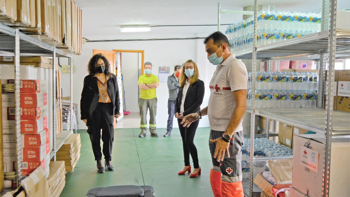 Nieves Rosa Arroyo en las instalaciones de Cruz Roja.
