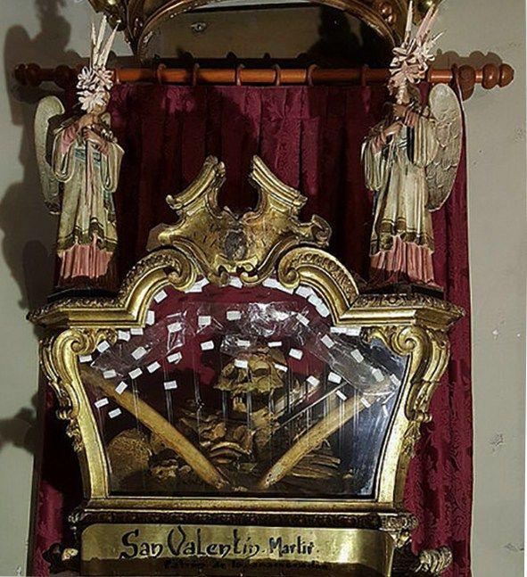 Urna con reliquias de San Valentín   Foto: Somos Chueca