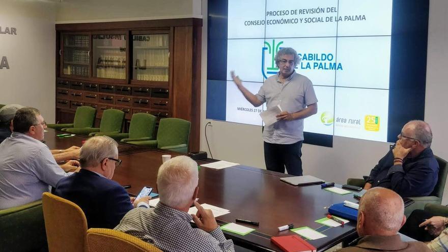 Reunión para para reformar el Consejo Social de La Palma.