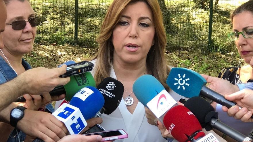 """Susana Díaz pide a Rajoy que """"dé la cara"""" y diga la """"verdad"""" y """"todo lo que sabe"""" sobre el 'caso Gürtel'"""