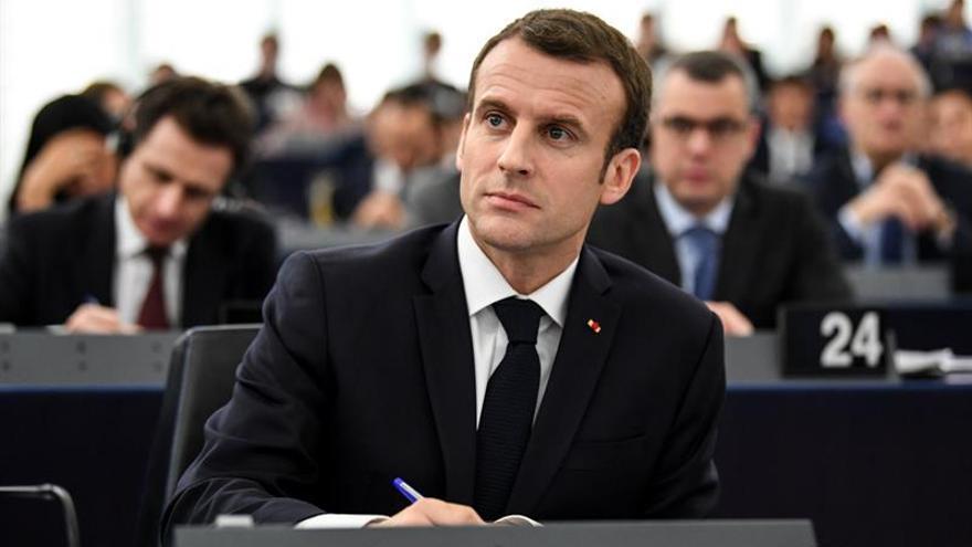 """Macron defiende que la intervención en Siria fue """"dentro de un marco legítimo"""""""