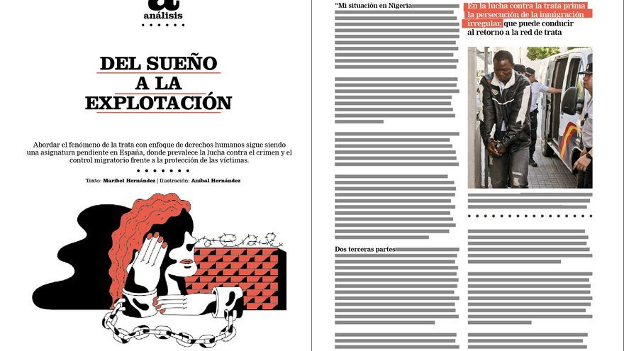 Reportaje de Maribel Hernández en la revista de eldiario.es sobre inmigración, Cuadernos #8.