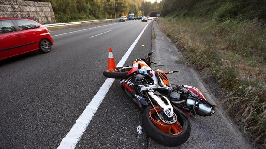 Muere un motorista de 44 años en un accidente de tráfico en Siero (Asturias)