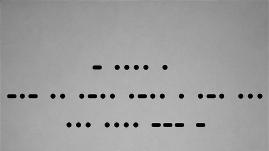 Portada del single de The Killers, Shot at night, escrito en morse