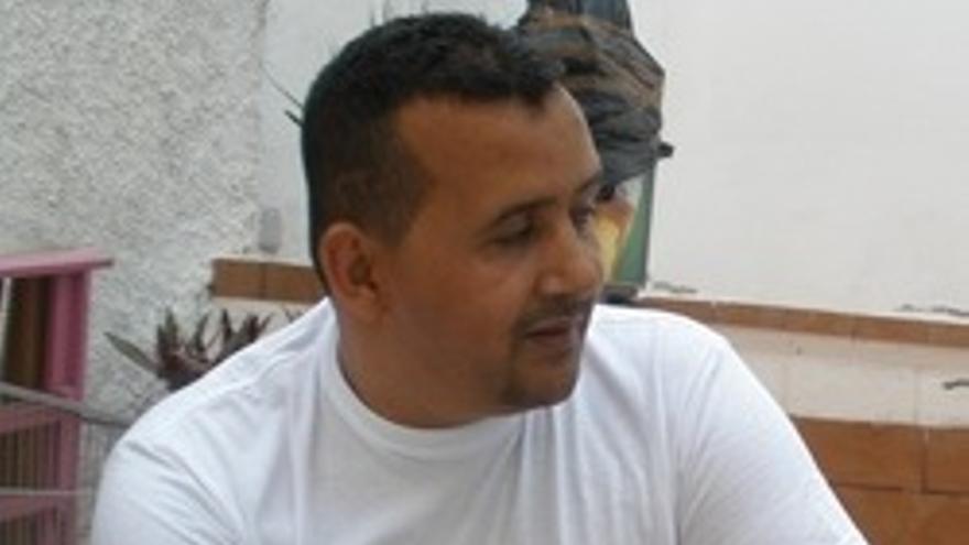 Brahim en un momento de la entrevista.