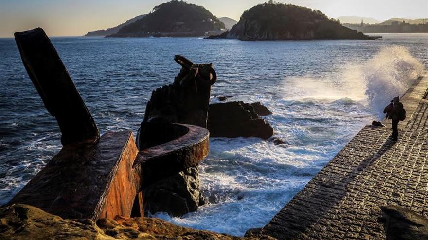 Peine de los vientos, en San Sebastián.