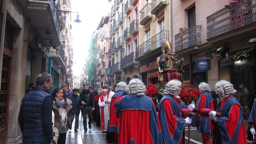 Pamplona acompaña a su patrón en la festividad de San Saturnino