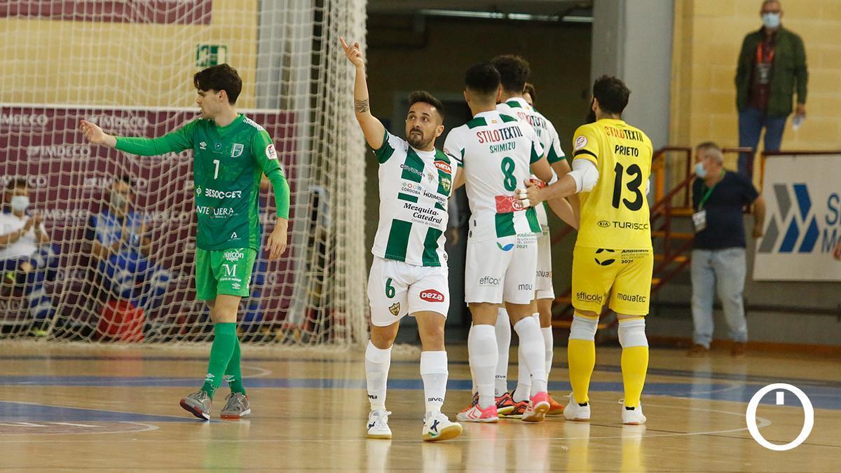 Jesulito celebra su gol ante el UMA Antequera.
