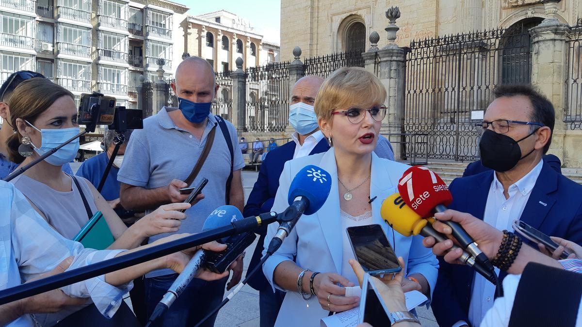 María Cantos ha liderado la rueda de prensa de este miércoles
