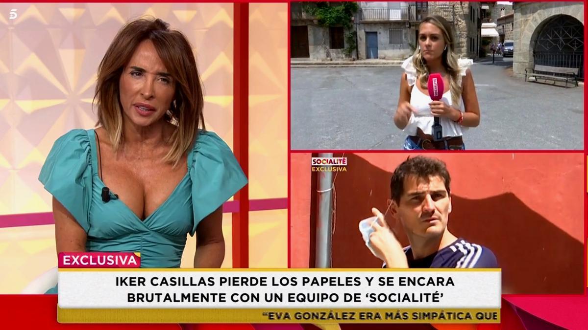 Patiño al introducir las imágenes del enfado de Iker Casillas