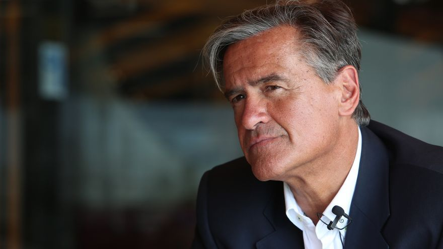 Juan Fernando López Aguilar, candidato al Parlamento Europeo por el PSOE.