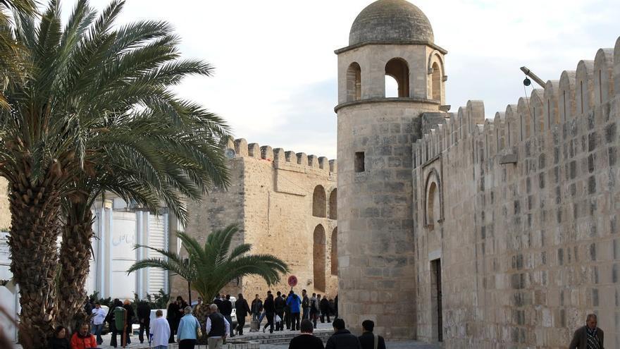 Muros de la Gran Mezquita en la medina de Susa. Andrew Skudder