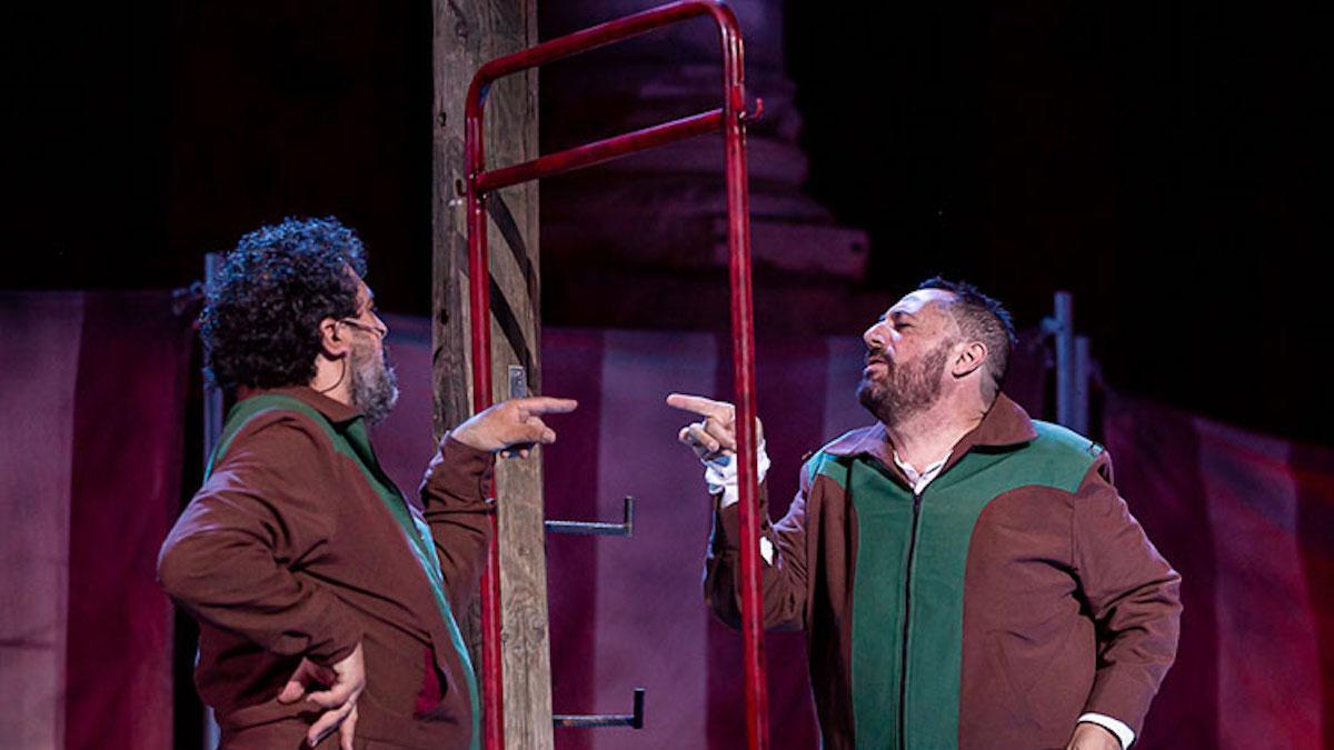 Paco Tous y Pepón Nieto en una escena de 'Anfitrión'