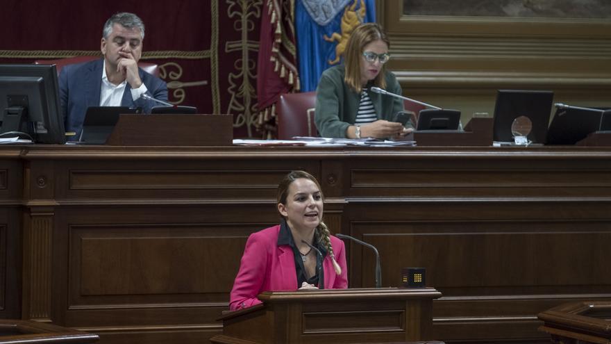 Noemí Santana, portavoz de Podemos en el Parlamento de Canarias