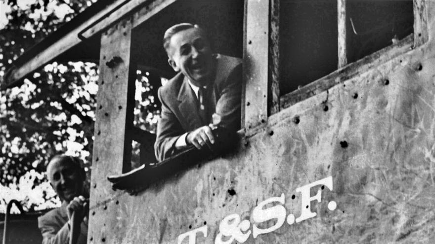 Walt Disney y su hermano en Marceline, Missouri