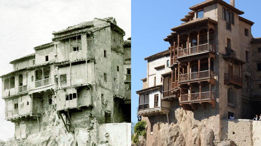 Casas Colgadas, antes y después de su restauración