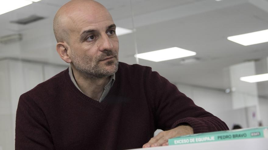 Pedro Bravo durante la entrevista con eldiario.es