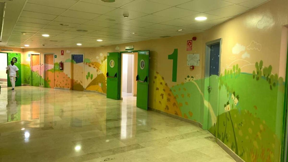 Zona de pediatría del Hospital de Mérida