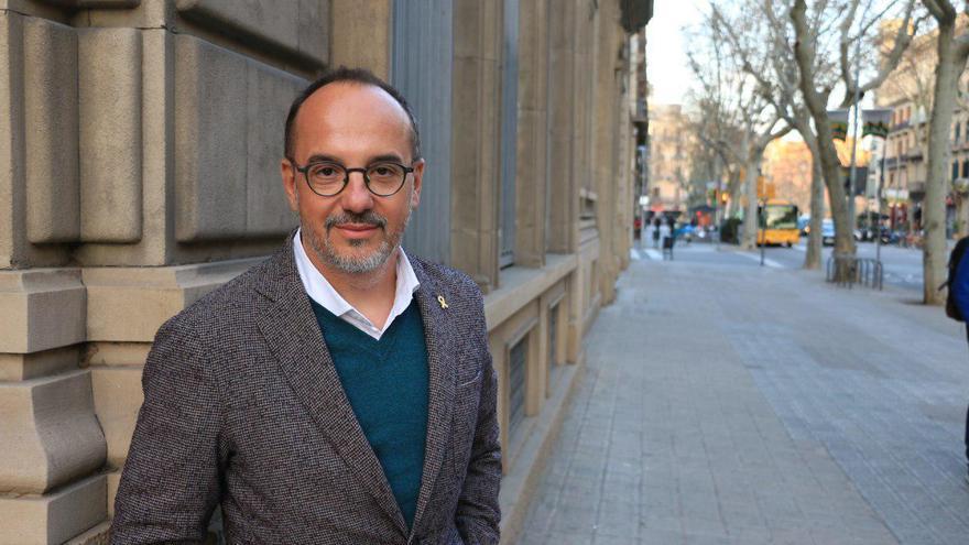 Campuzano, este lunes en Barcelona tras ser relegado de las listas de JxCat