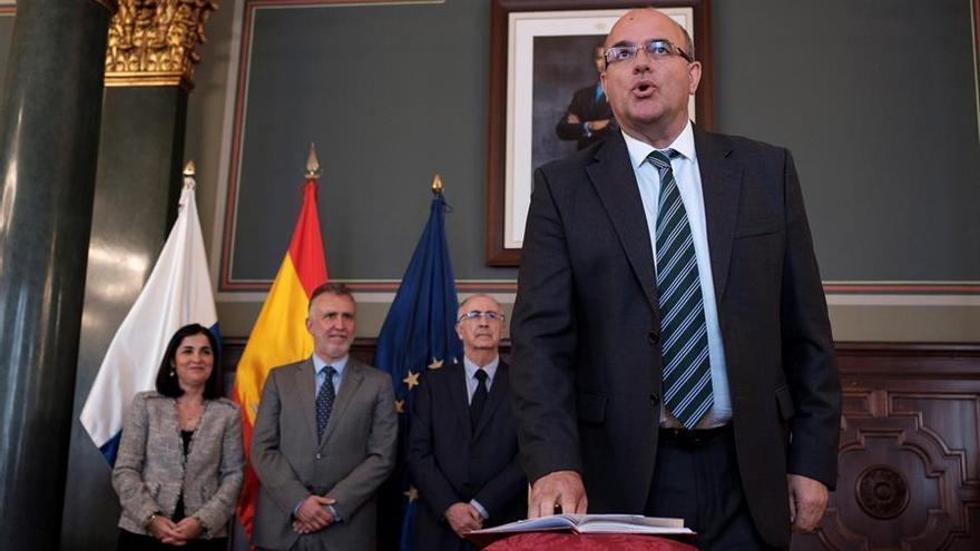 El nuevo delegado del Gobierno en Canarias, Anselmo Pestana toma posesión de su cargo.