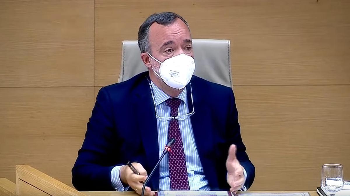 El exsecretario de Estado de Seguridad con el PP Francisco Martínez declara en la comisión Kitchen del Congreso