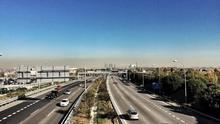 Vista de la 'boina' de contaminación en Madrid / I.C.
