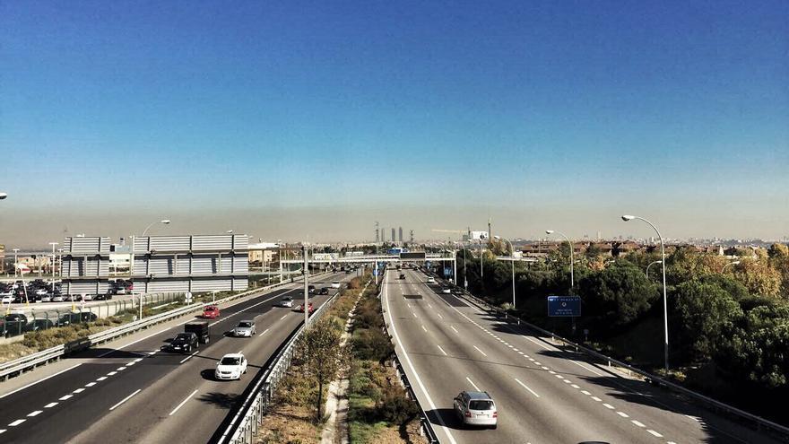 Vista de la 'boina' de contaminación en Madrid el pasado miércoles.