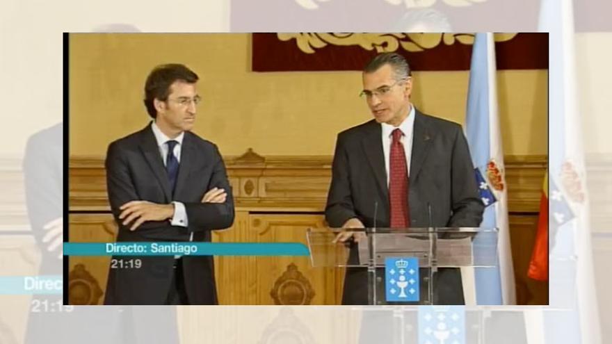 La TVG emite en directo la firma del acuerdo de la Xunta con Pemex en mayo de 2012