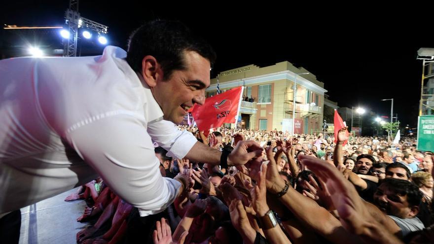El primer ministro griego, Alexis Tsipras, en un acto el 1 de julio en Creta.