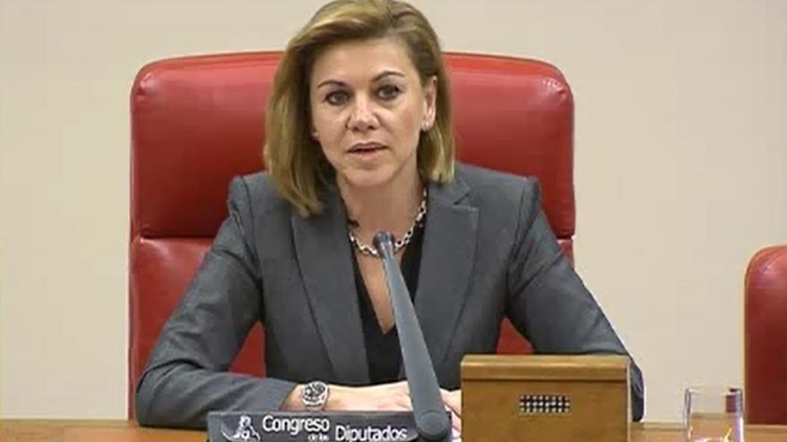 """Cospedal subraya que el PP está dispuesto a """"mejorar"""" su reforma laboral para desactivar el 'no' del PSOE"""