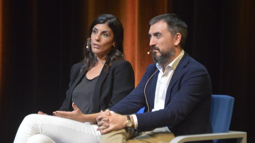 Raquel Ejerique e Ignacio Escolar en la Universidad Carlos III de Madrid