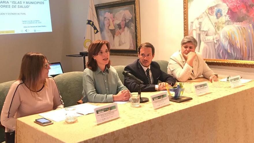 Inauguración del 'II Plenario de la Estrategia Canaria Islas y Municipios Promotores de la Salud'.