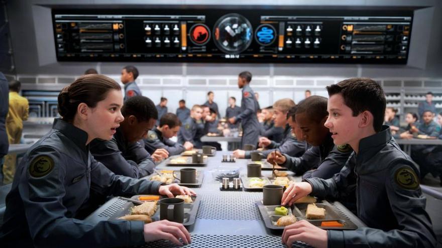 La Escuela de batalla, convertido en un Hogwarts espacial