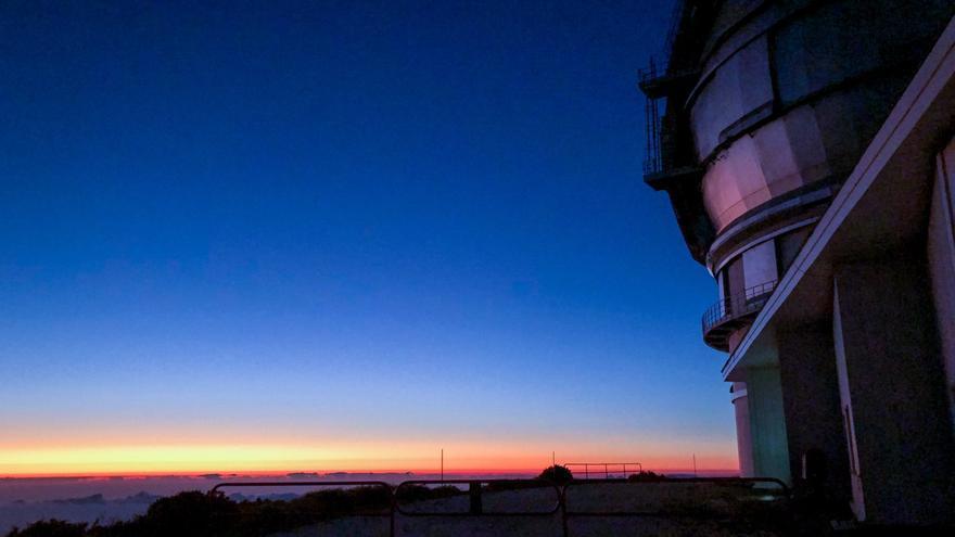 Imagen del Gran Telescopio Canarias (GTC o Grantecan), ubicado en el Observatorio del Roque de Los Muchachos, en las cumbres de Garafía.